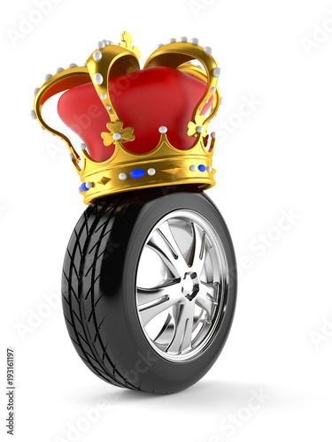 Car wheel with crown