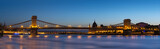 Chain bridge in Budapest night view