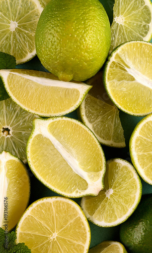 Abstract background of citrus slices - 193166576