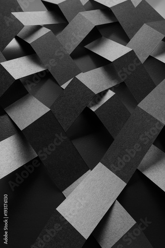 Black and white abstract background, geometric composition