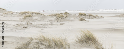 Beach at island Schiermonnikoog, protected nature reserve and popular for tourism. - 193178308
