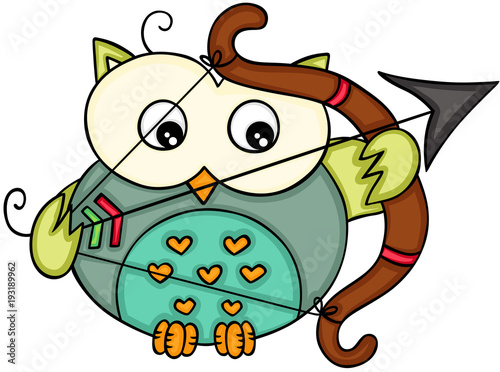 Cupid love owl