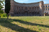 Ruins of Domus Aurea in city of Rome, Italy