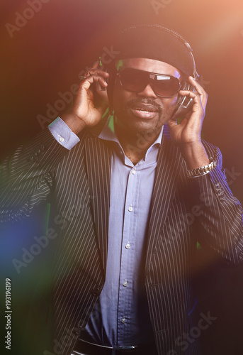 mature black men listen to music