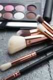 various makeup products on dark background - 193205382
