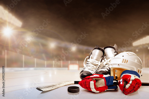 outdoor-hockey-stadium-with-equipment-on-ice