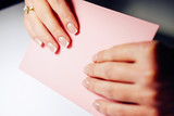 Gel nail extensions build up process - 193216532