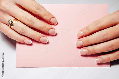Gel nail extensions build up process
