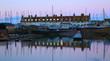 roleta: Seaton harbour in Devon at dawn. River Axe estuary on the Jurassic Coast.