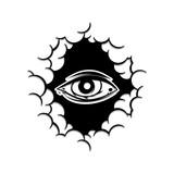 one eye inside cloud theme sign template - 193234966
