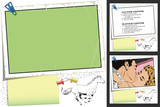 Galloping horse. Frame for scrapbook, banner, sticker, social network - 193238915