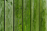 old wooden boards painted in green - 193242169