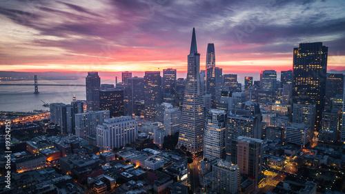 Canvas San Francisco San Francisco Skyline at Sunrise