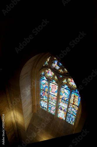 Foto op Aluminium Praag prague church interior - window