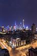 Quadro Shanghai skyline and cityscape at night