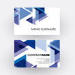Vector abstract minimal geometric with arrows and triangles in blue and white background. Business card - 193248108