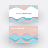 Vector abstract minimal geometric with waves in soft color. Vintage and pop background. Business card - 193248152