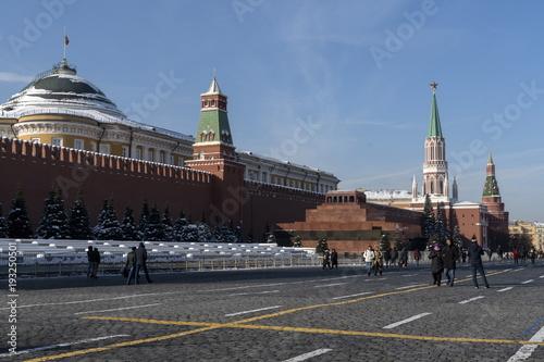 In de dag Moskou Морозный зимний день. Красная площадь.