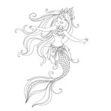 cartoon princess mermaid - 193252575