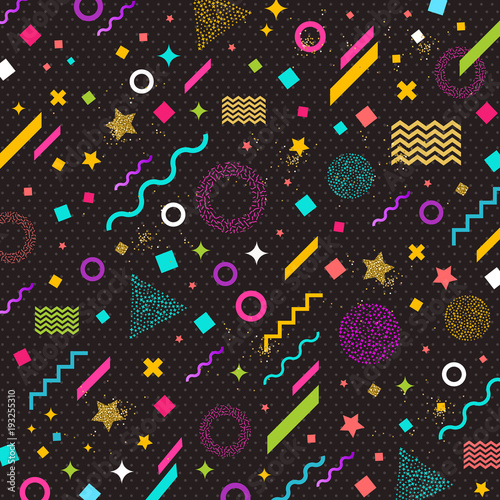 Vector abstract background with multicolored geometric shapes