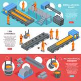 Steel Industry Isometric Banners - 193255981