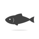 Fish icon vector isolated - 193257721