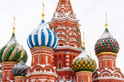 Moskwa Saint Basil Cathedral w zimie