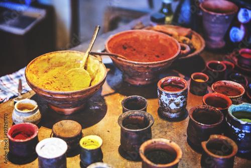 Fototapeta Set of powdery paints