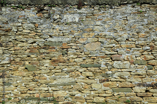 Tuinposter Baksteen muur Natursteinmauer