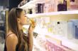 Tasting different perfumes
