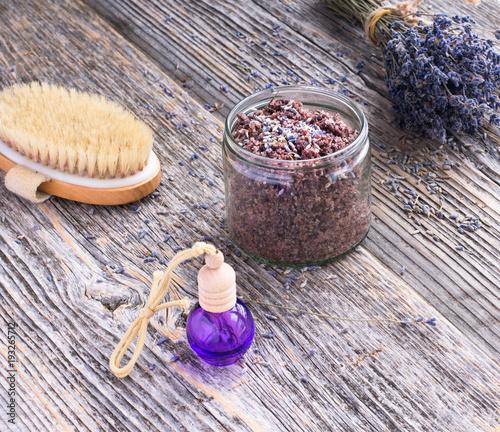 Lavender spa scrub