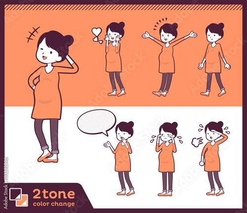 2tone type Pregnant women_set 03