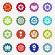 Flower icons set on white background - 193297391