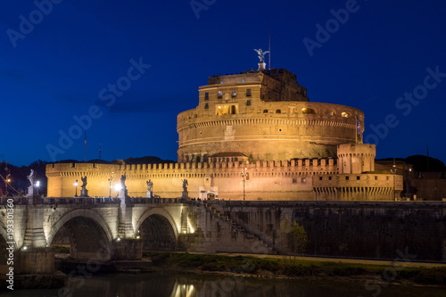 Night in Rome at Sant' Angelo Castle