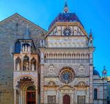 Part of facade from Basilica of Santa Maria Maggiore, Bergamo, Italy - 193308764