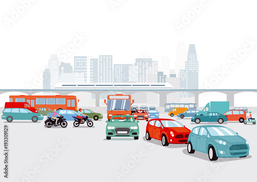 grosstadt-mit-autos-verkehrs-illustration