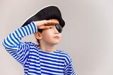 Boy In A Pirate Costume Wall Sticker