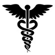 Medical Icon - Caduceus - Rod of Hermes