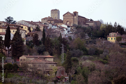 view of the traditional Tuscan village