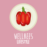 pepper vegetable wellness lifestyle vector illustration design - 193322163