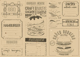 Burger Placemat on Craft Paper - 193323742