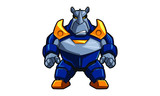Rhinoceros  Cartoon Character Wall Sticker