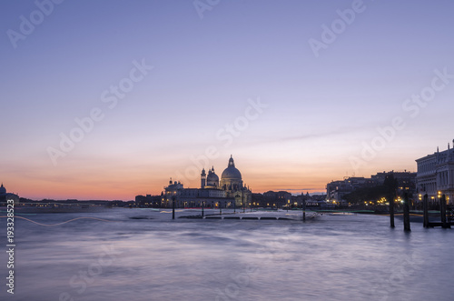 Venezia city in the evening sunset