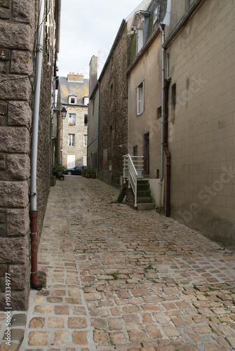 Wall Murals Narrow alley Granville en Normandie
