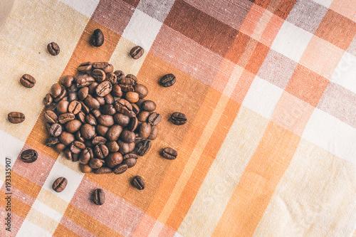 Fotobehang Koffiebonen Coffee beans Sun