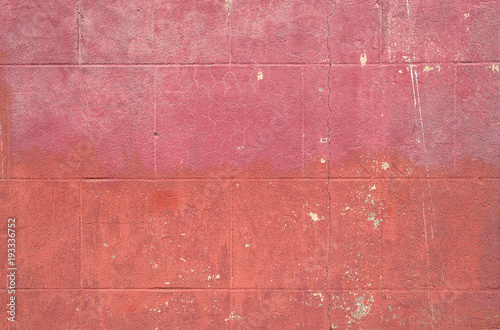 Poster Betonbehang Pink wall background Concrete grungy texture