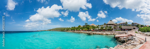 Deurstickers Tropical strand Coral Estate scenic photos Curacao views