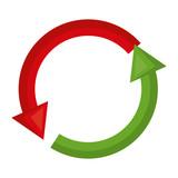 arrows around sign icon vector illustration design - 193373361
