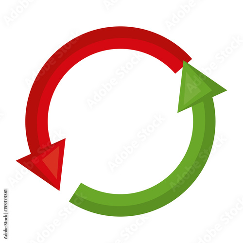 arrows around sign icon vector illustration design