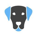 Dog Face Icon Wall Sticker